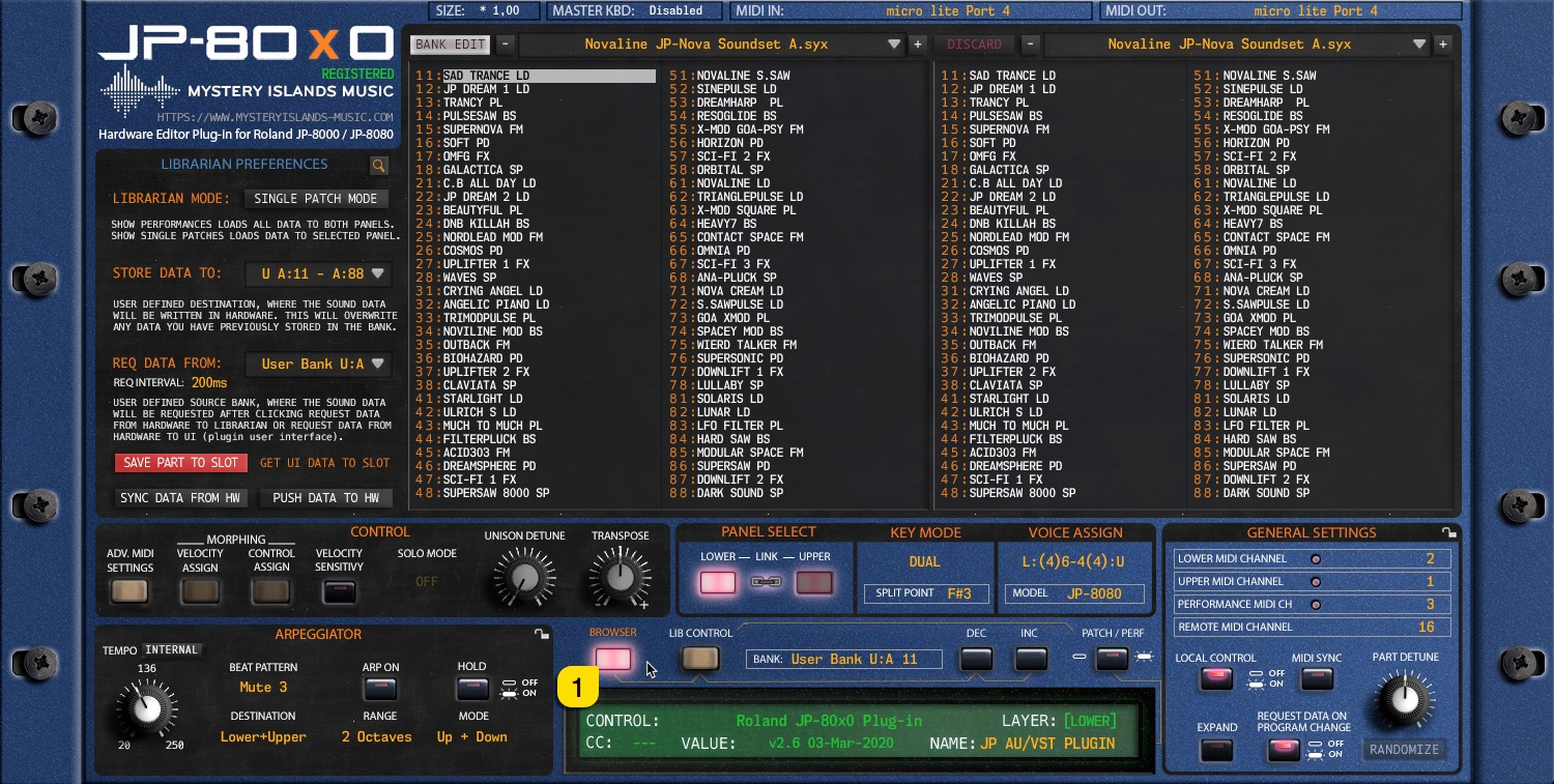 JP-80x0 User Manual - View Patch Librarian