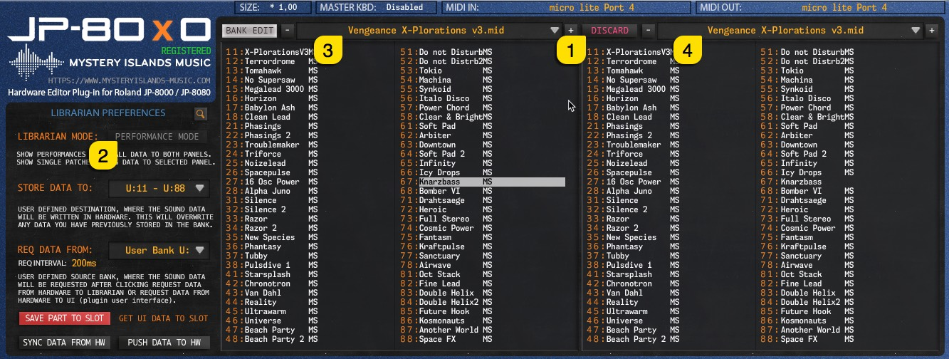 JP-80x0 User Manual - Right Menu is operational even when edits has been made