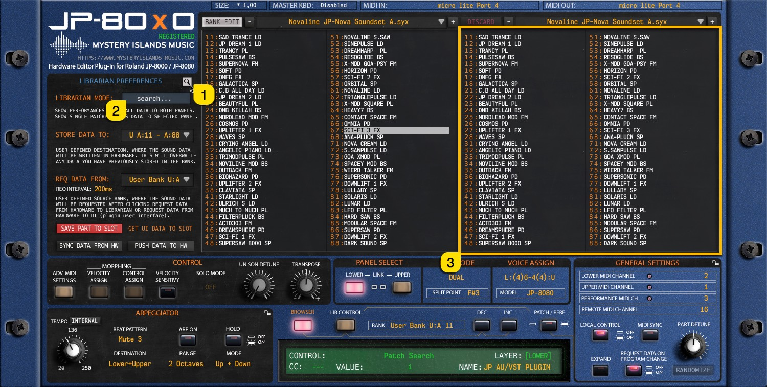 JP-80x0 User Manual - Search Function