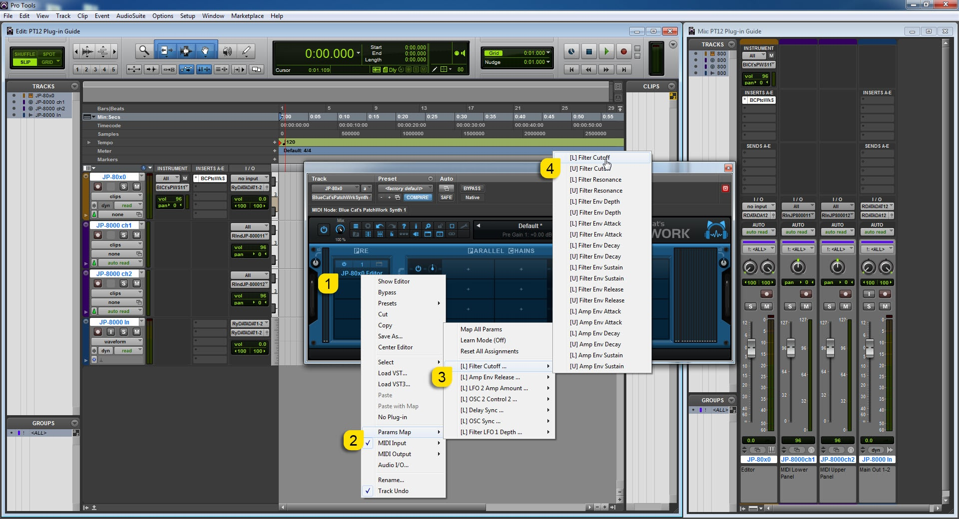 AVID Pro Tools Config - Configure Automation Parameters in PatchWork