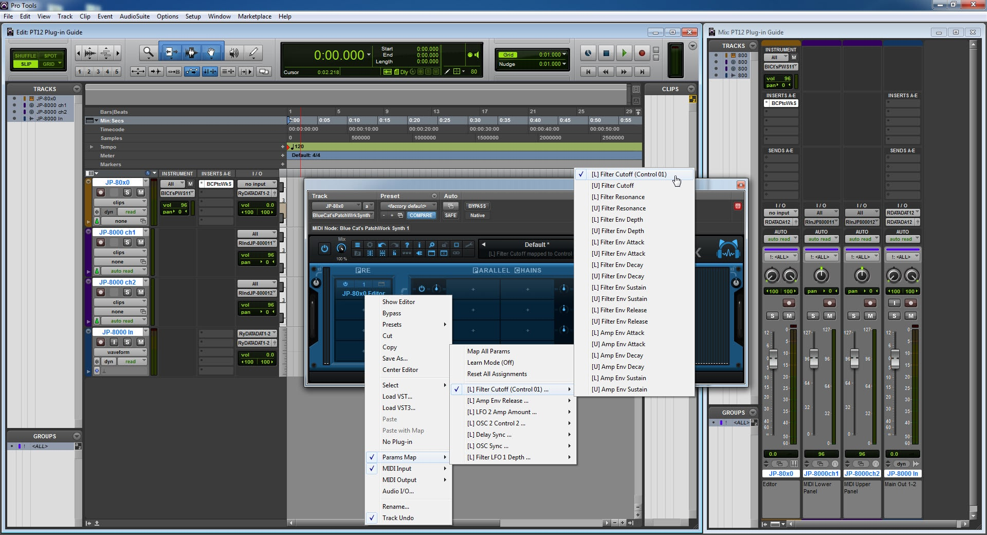 AVID Pro Tools Config - Parameter Mapped