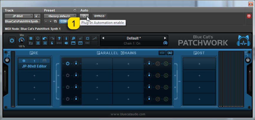 AVID Pro Tools Config - Enable Automation from PatchWork