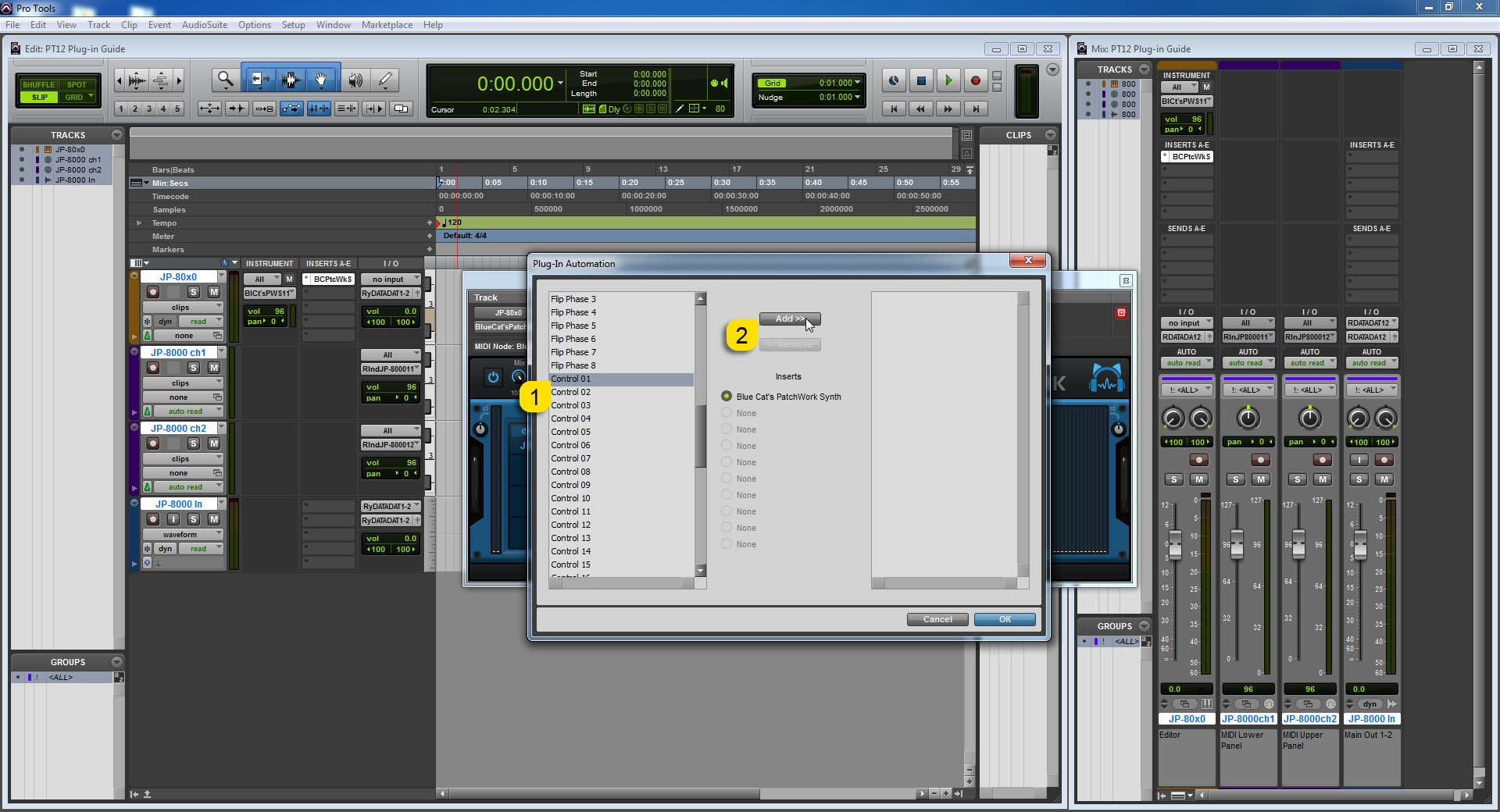 AVID Pro Tools Config - Assign PatchWork Parameters to DAW map