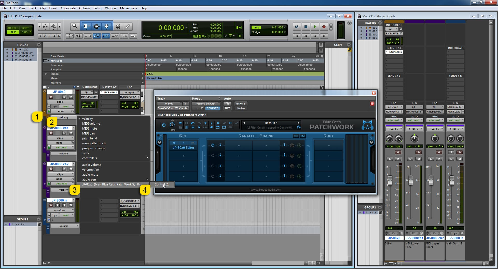 AVID Pro Tools Config - Select Parameter from DAW to Automate it