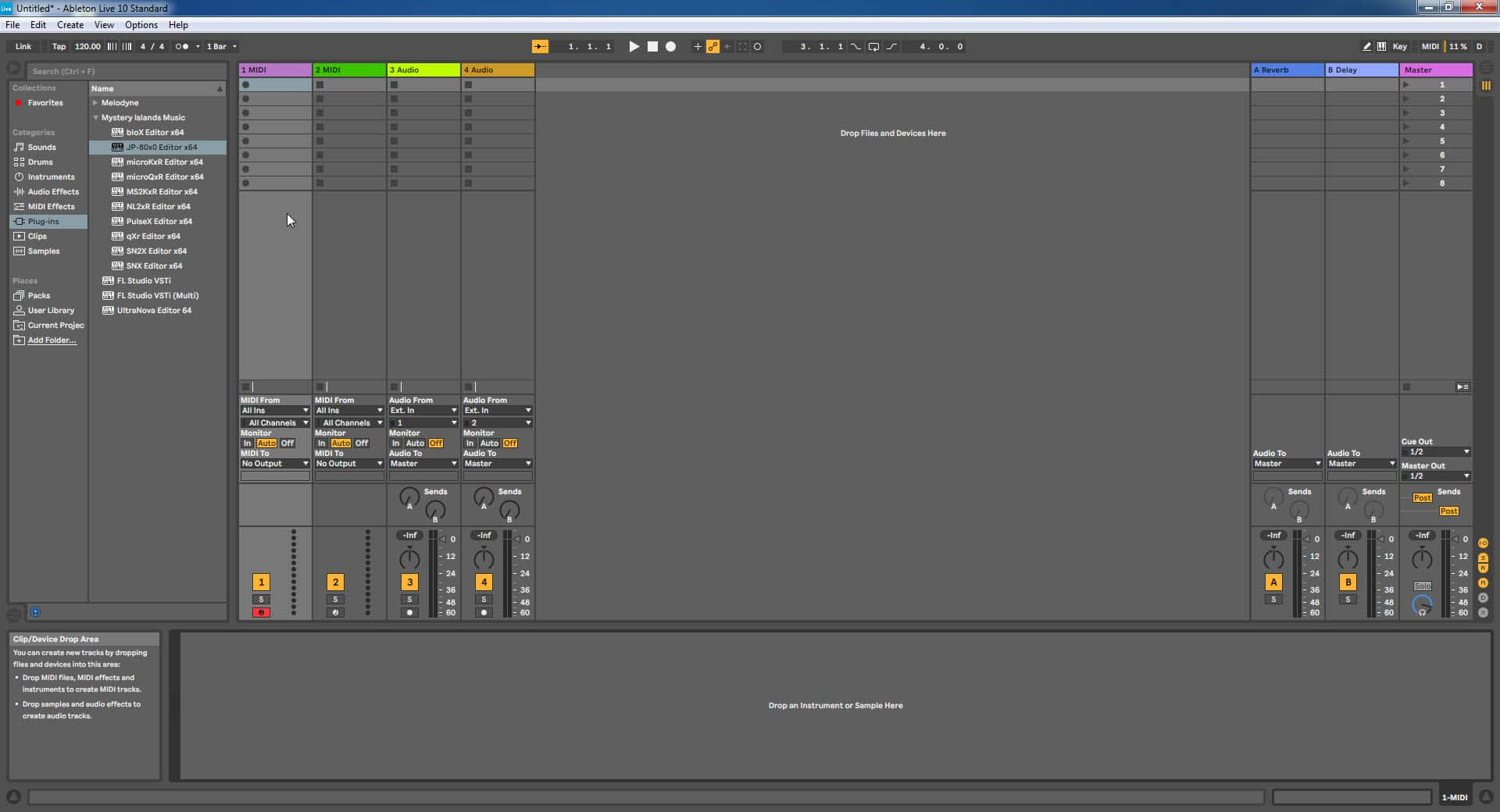Ableton Live Config - Drag the Plug-in to New Track