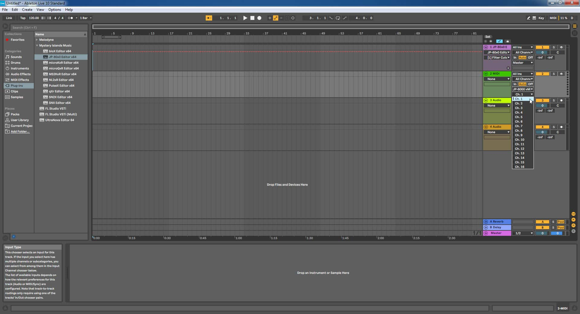 Ableton Live Config - Assign MIDI Channel