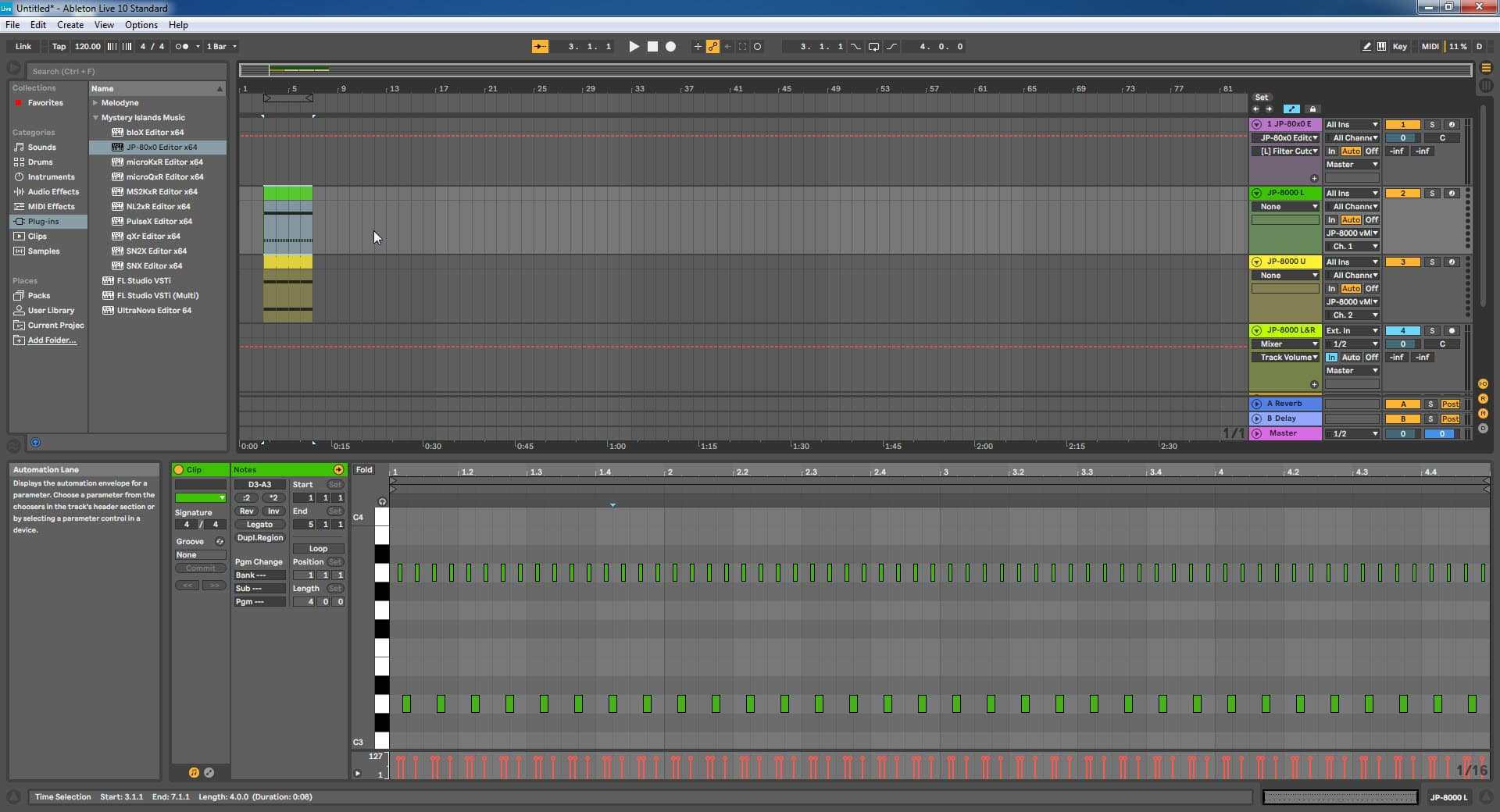 Ableton Live Config - Well oiled Machine in Work
