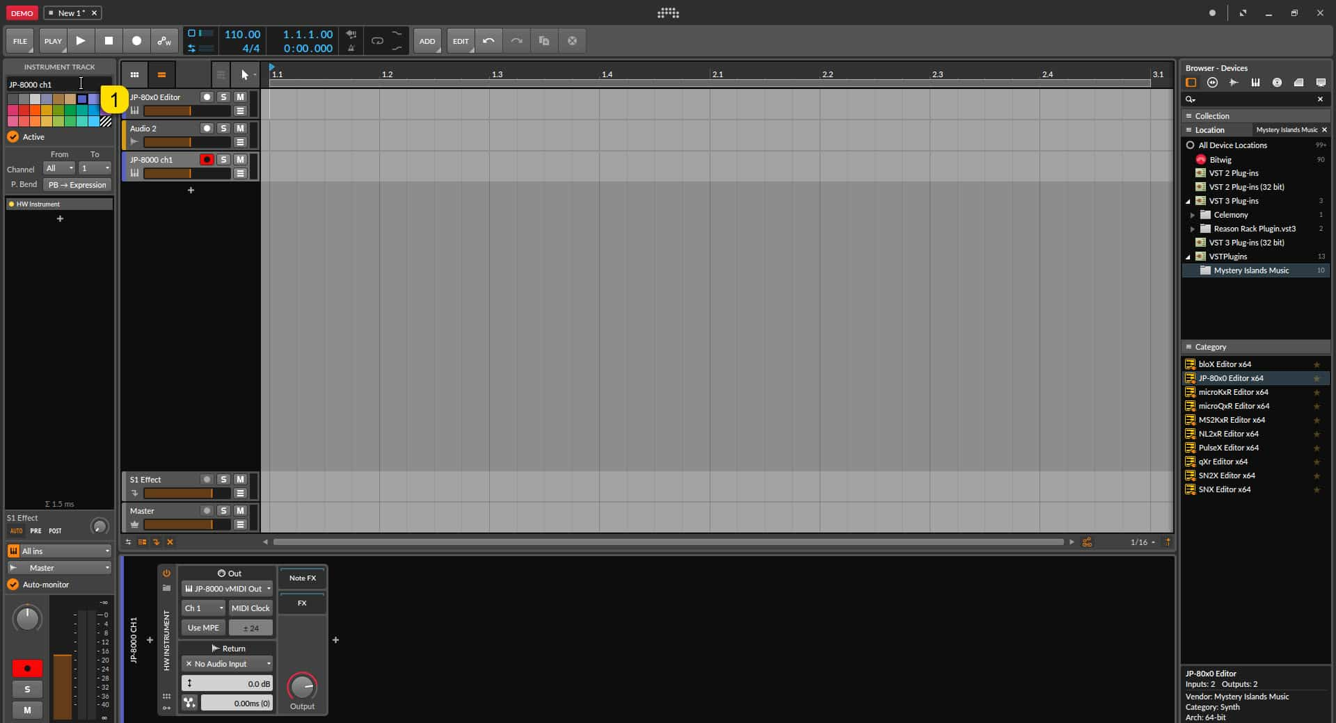 Bitwig Studio Config - Rename and Add Color to your Tracks