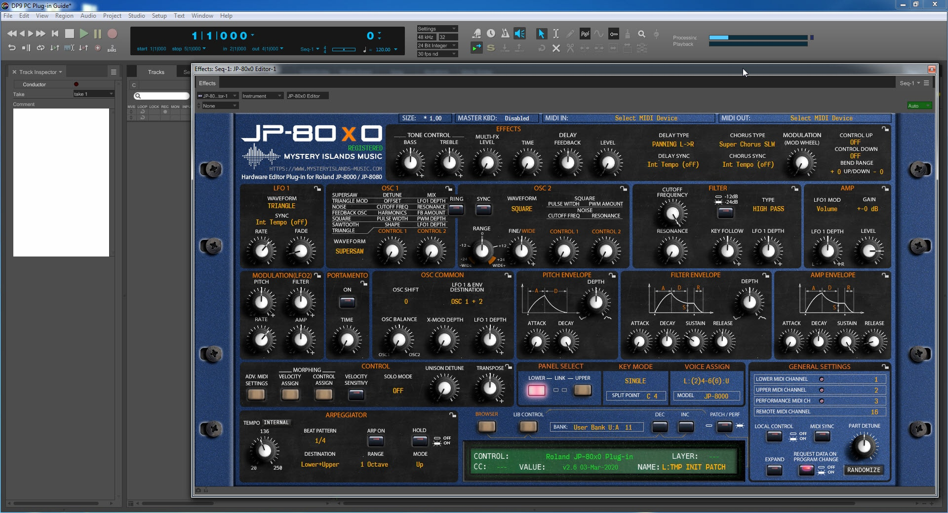 Digital Performer Guide - Our Plug-in Window will Appear