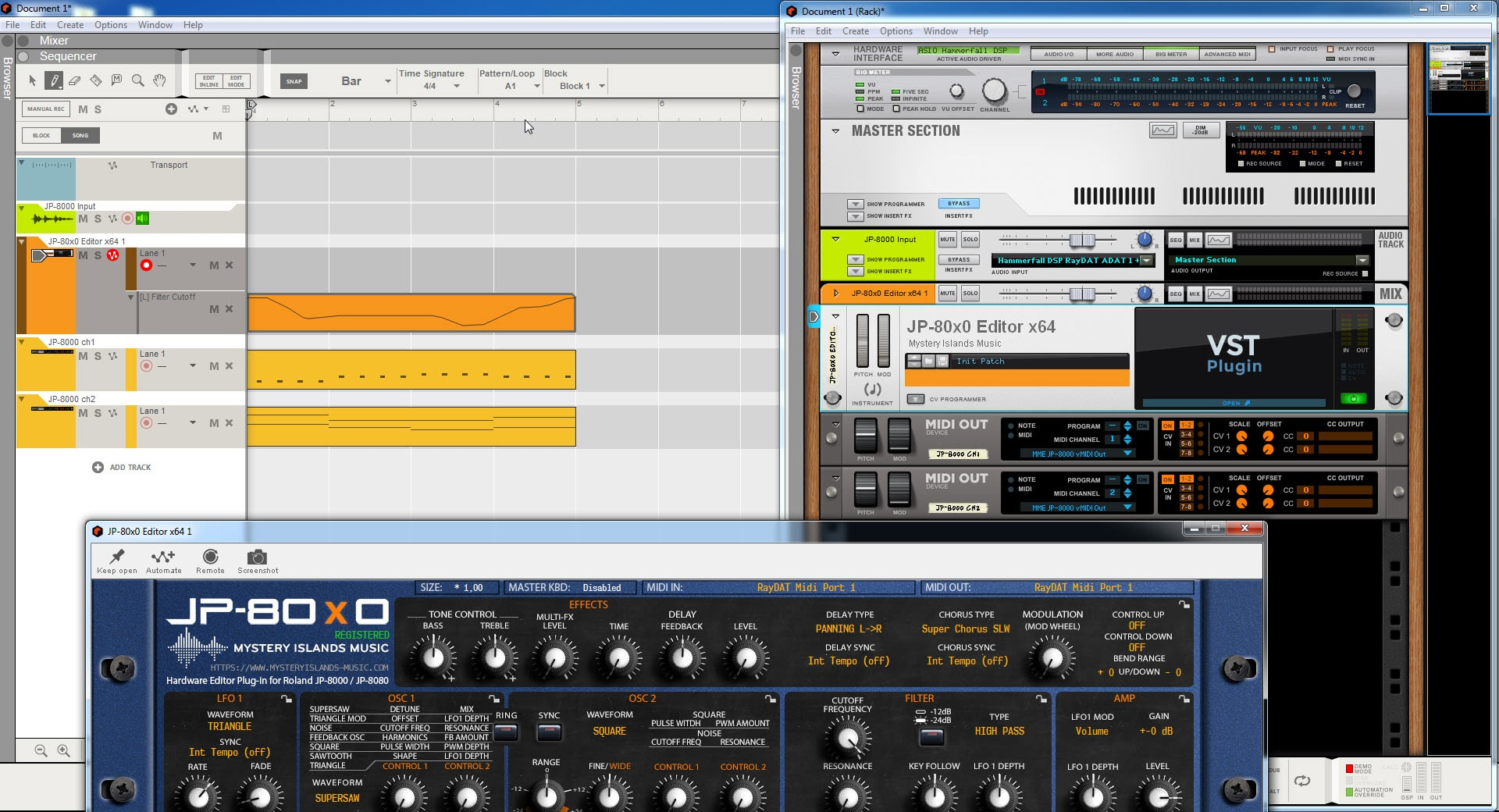 Reason Studios Config - Everything Works like well Oiled Machine