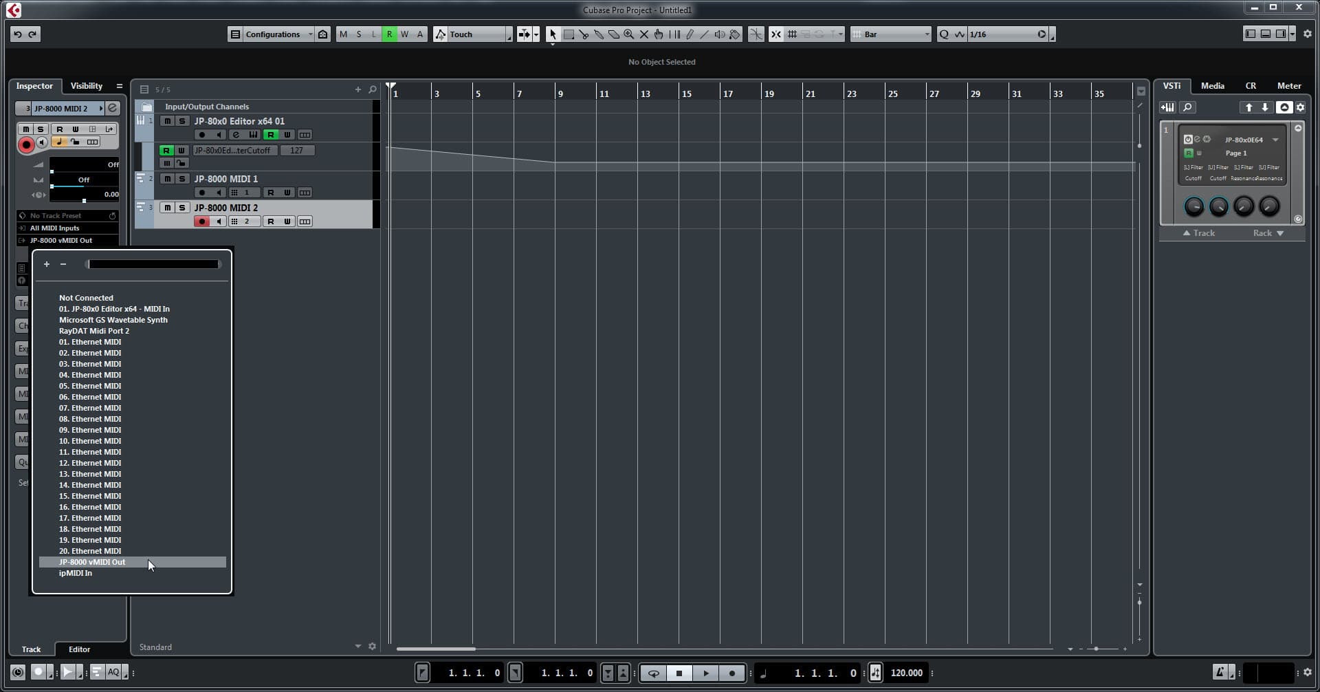 Steinberg Cubase Config - Assign MIDI Ports Appropriately