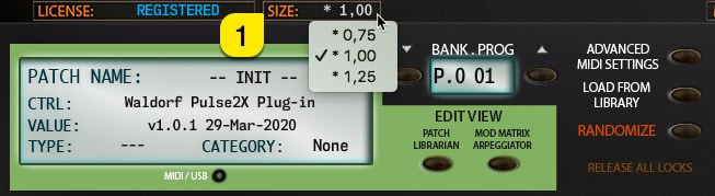Pulse2X User Manual – User Interface Zoom level