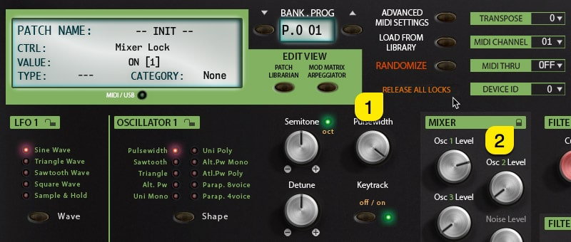 Pulse2X User Manual – Release Section Locks